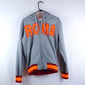 A.S. Roma Zip Up Hooded Long Sleeve Jacket